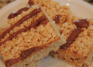 Dulce de Leche Rice Krispie Treats
